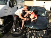 Olga offers up her virginity in exchange for repairs to her cars
