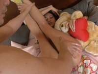Solo masturbation only gives visitor ways to finally fuck her afterwards