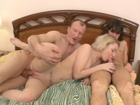 Sheyla : Young girl lost her virginity in threesome. : sex scene #11
