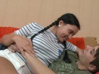 Sonya : Cute Sonya deflowered after sucking the cock. : sex scene #2