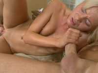 Valery : Posh blond loses her virginity in threesome. : sex scene #7