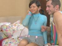 Adelle : Brunette Ksusha enjoys double penetration. : sex scene #2