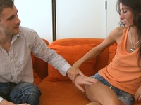 Dinara : Dark haired wench fucked with the unknown guy. : sex scene #1
