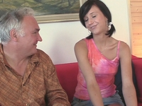 Natalia : After a little coaxing Natalia agrees to fuck the older man and get a little experience  : sex scene #4