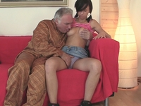 Natalia : After a little coaxing Natalia agrees to fuck the older man and get a little experience  : sex scene #7