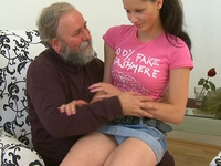 Simona : Old guy might not have a big cock, but he knows what to do with it  : sex scene #3