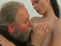 Simona : Old guy might not have a big cock, but he knows what to do with it  : sex scene #4