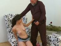 Simona : Old guy might not have a big cock, but he knows what to do with it  : sex scene #6