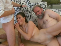 Simona : Old guy might not have a big cock, but he knows what to do with it  : sex scene #10