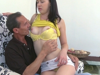 Anastasia : Anastasia is enjoying herself a little too much with this older guy  : sex scene #5