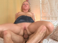 Shelly : Cute little blonde Shelly gets her pussy well and truly fucked : sex scene #10