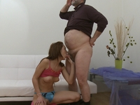 Elizaveta : Donna is a brunette with a secret obsession for older men and she meets one! : sex scene #5