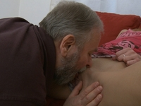 Lola : It doesn't take long for this dirty old dude to get his way with Lola, she's a real goer! : sex scene #6