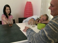 Olga : Olga thought she was faithful to her boyfriend until this old guy turns on his charm : sex scene #2