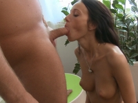 Dinara : Dinara is clearly on her way to a good session simply because she's kept her man waiting for so long before he was able to fuck her. : sex scene #5