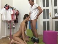 Nika : Nika in her sexy pink top and shorts has been man come over and have wild sex ahead with him. : sex scene #4