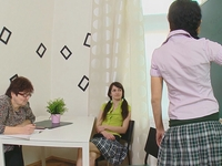 Amanda : Amanda and her sexy school mate are brought into their teachers class after school. : sex scene #2