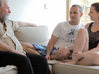 Ilona : Ilona and her man are sharing a good time when he invites his older friend over : sex scene #2