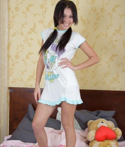 Sexy teen model Yvette, 21 yo Yvette from 1 Pass For All Sites