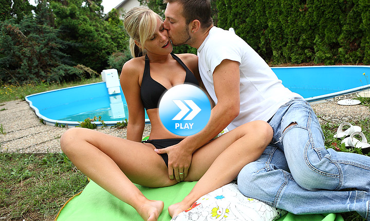 Hot pool time by blondes gives cleaner wild sex as he finally fucks her