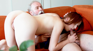 Older guy fucks young blonde 9