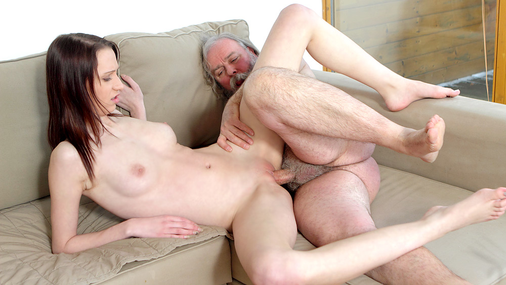 Teen getting pounded by old man